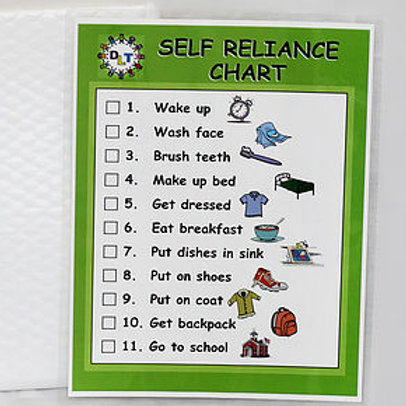 Self-Reliance Chart (Ages 3-7)