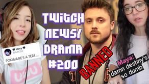 Pokimane TERF Allegations, Destiny vs Maya, JadeyANH Stalker, GreekGodX Ban - Twitch Drama/News #200