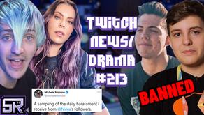 KillMfCam Abusive Behaviour, Faze Adapt and Clix Banned, Ninja Defends Again- Twitch Drama/News #213