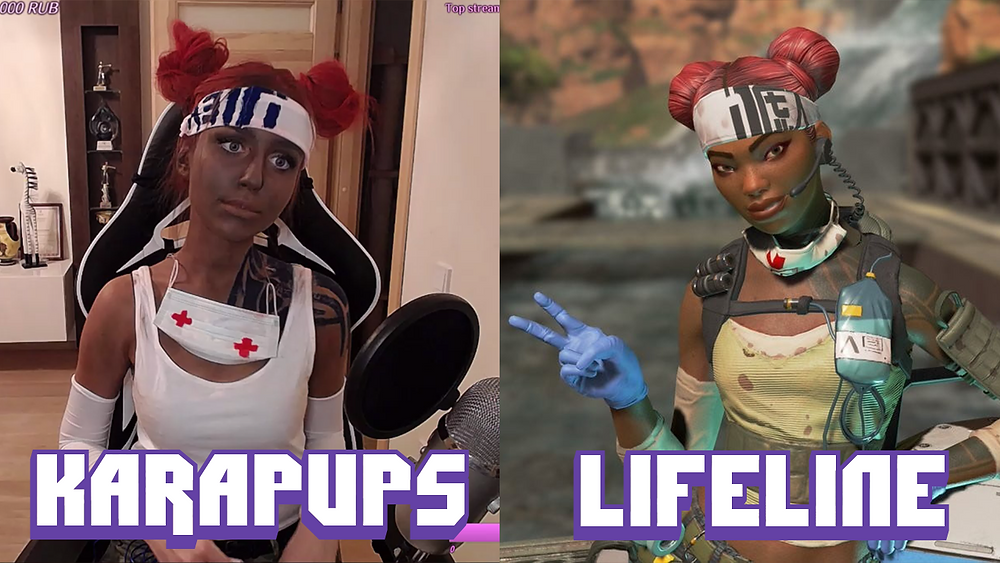 Karapups and Lifeline Cosplay side by side