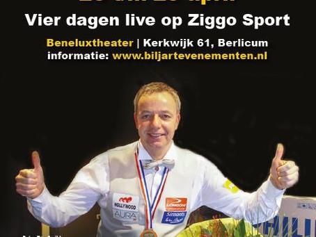 KNBB Jumbo Masters 2021vanaf 26 April live op ZiggoSport
