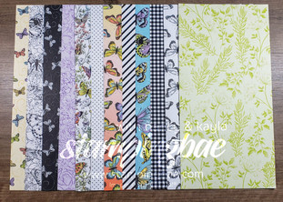Botanical Butterfly Designer Series Paper (6 double-sided sheets sized at 12×6 – 1 of each design).