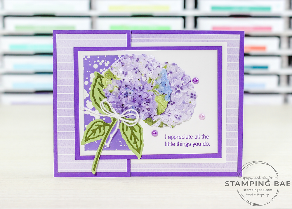 Hydrangea Hill and Hydrangea Haven Stampin' Up! Card
