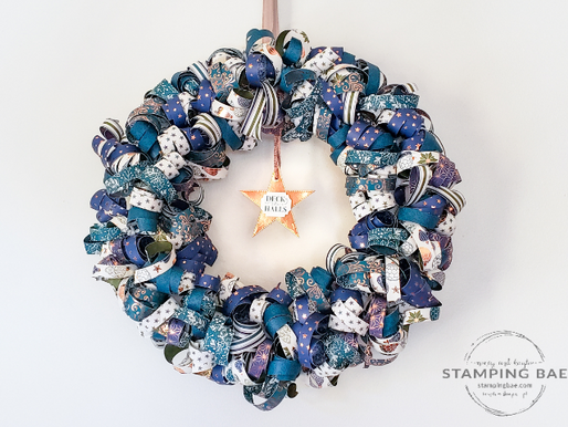 Brightly Gleaming Christmas Paper Wreath