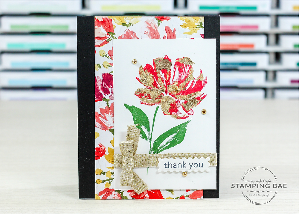 Art Gallery and Fine Art Floral Designer Series Paper Thank You Card