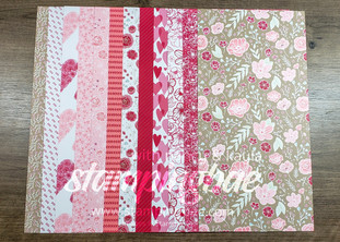 All My Love Designer Series Paper (6 double-sided sheets sized at 12×6 – 1 of each design)