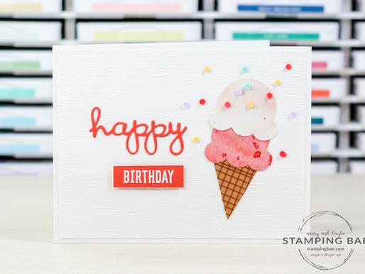 Ice Cream Happy Birthday Card (MMM)
