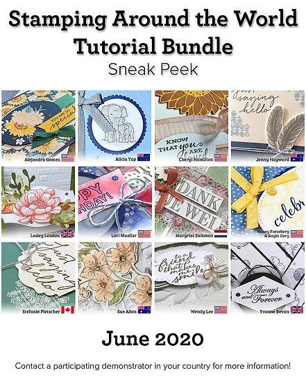 June 2020 Stamping Around the World Tutorial
