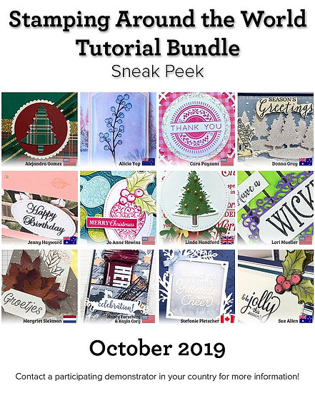 October 2019 Stamping Around the World Tutorial