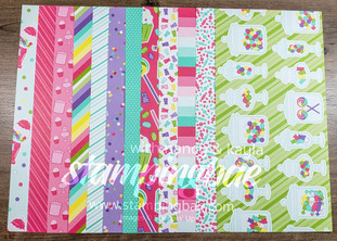 How Sweet It Is Designer Series Paper (6 double-sided sheets sized at 12×6 – 1 of each design)