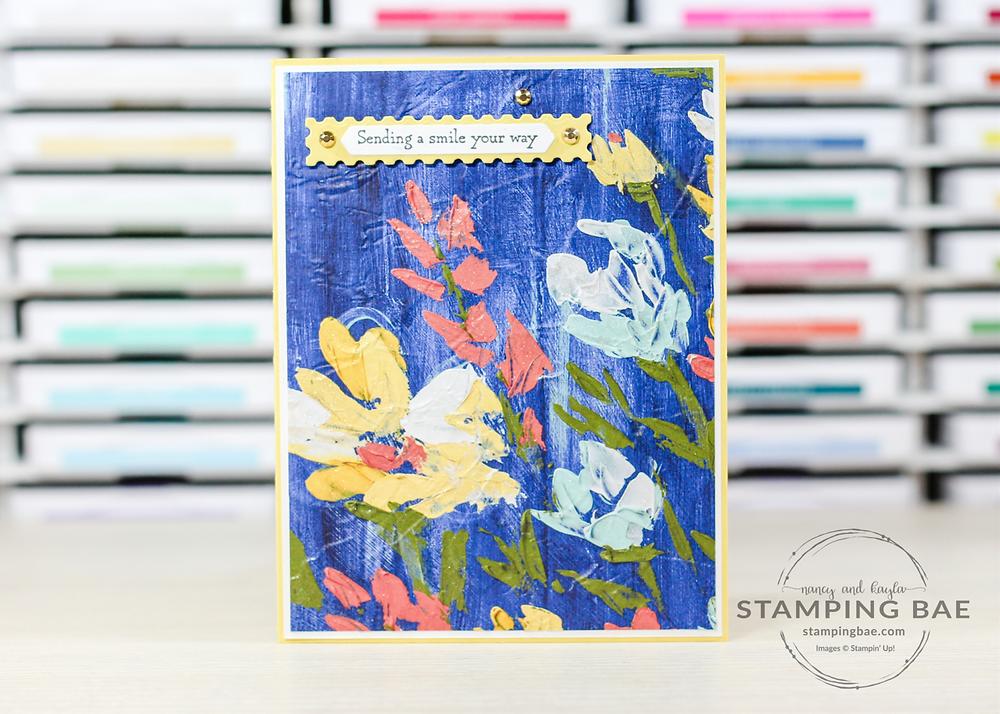 Hydrangea Haven Card created with Hydrangea Hill Designer Series Paper