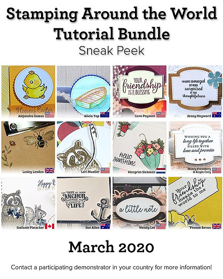 March 2020 Stamping Around the World Tutorial
