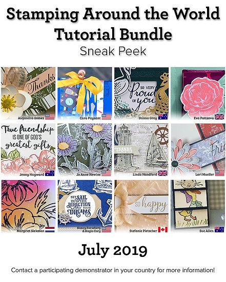 July 2019 Stamping Around the World Tutorial