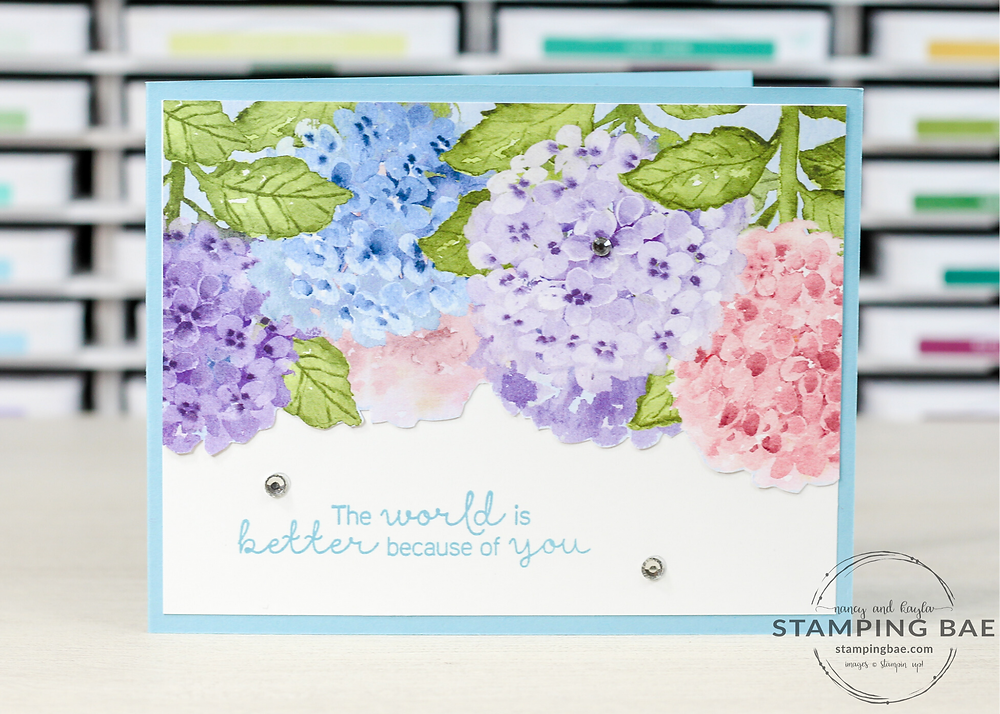 Hydrangea Hill Flower Card, Simple Stamping, Balmy Blue, Hydrangea Haven, Stampin' Up