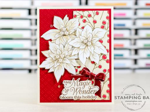 Poinsettia Place Card