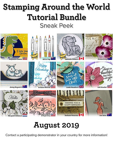 August 2019 Stamping Around the World Tutorial