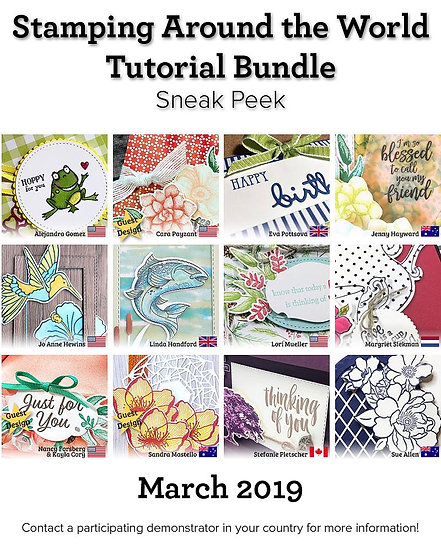 March 2019 Stamping Around the World Tutorial