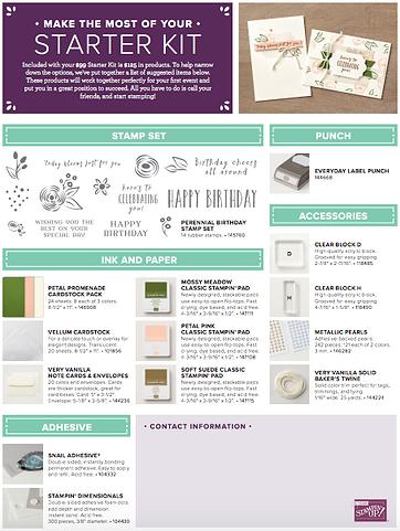 stampin up starter kit examples