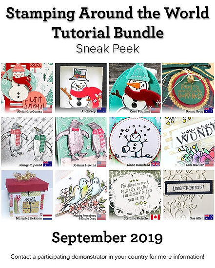 September 2019 Stamping Around the World Tutorial