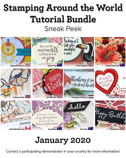 January 2020 Stamping Around the World Tutorial