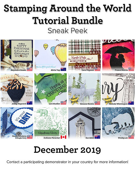 December 2019 Stamping Around the World Tutorial
