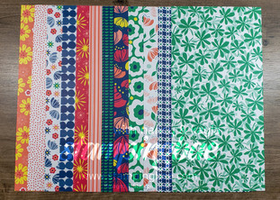 Happiness Blooms Designer Series Paper (6 double-sided sheets sized at 12×6 – 1 of each design)
