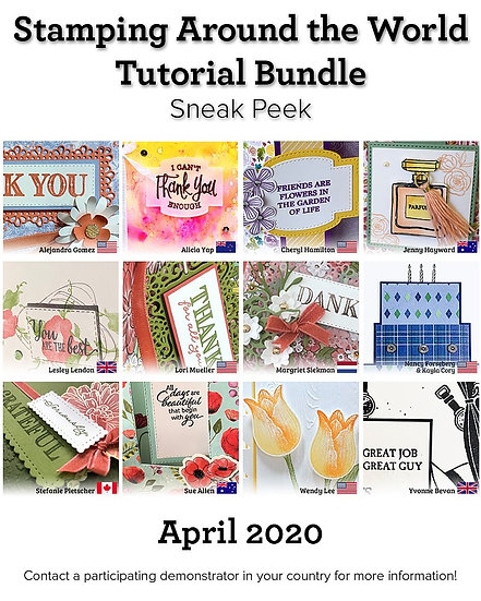 April 2020 Stamping Around the World Tutorial