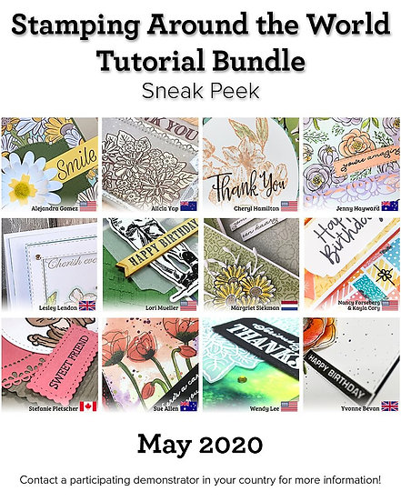 May 2020 Stamping Around the World Tutorial