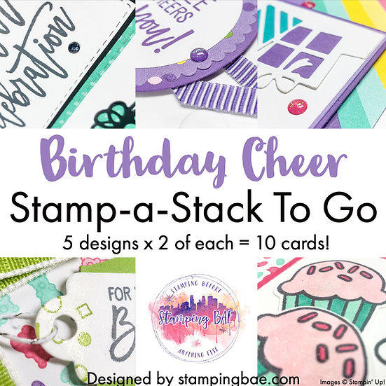 Birthday Cheer Stamp-A-Stack PDF Only