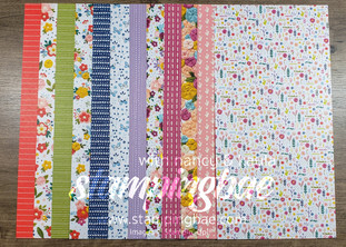 Needlepoint Nook Designer Series Paper (6 double-sided sheets sized at 12×6 – 1 of each design)