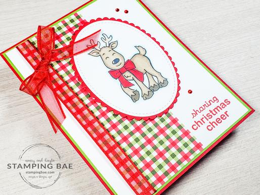 Real Red Reindeer Card (MMM)