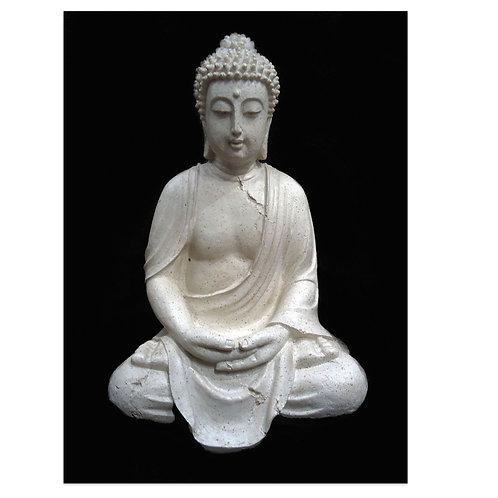 Ινδικός Βούδας 40 cm Λευκός