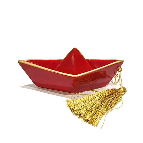 Γούρι καραβάκι (κόκκινο) 15cm