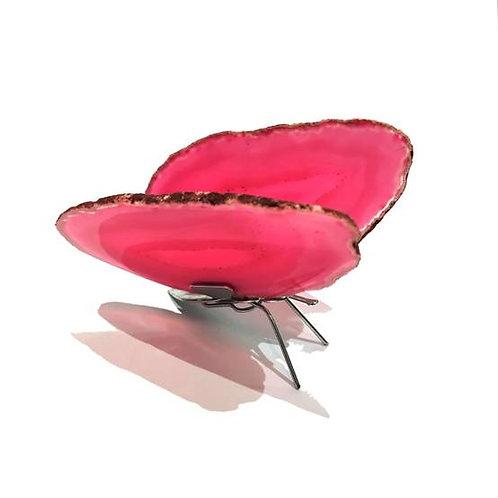 Πεταλούδα από αχάτη -ροζ