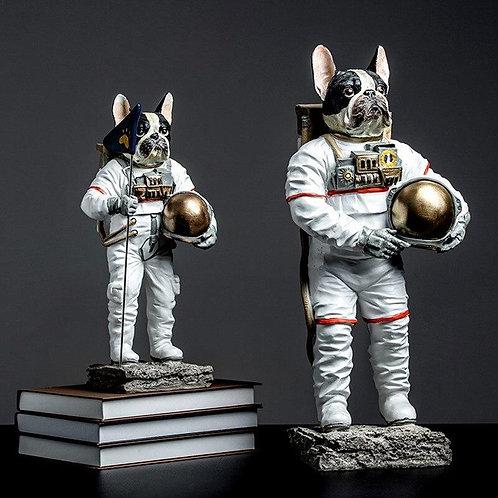 Astronaut Dog Statue