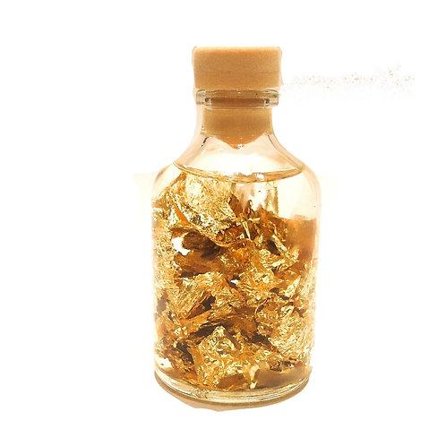 Μπουκαλάκι με φύλλα Χρυσού στρογγυλό