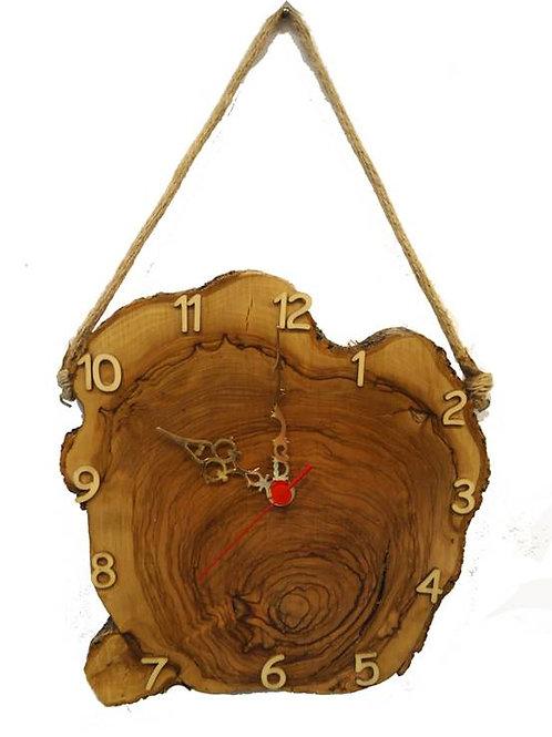 Χειροποίητο ρολόι από ξύλο Ελιάς 27 cm