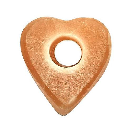 Κηροπήγειο καρδιά από αλάτι ιμαλαίων