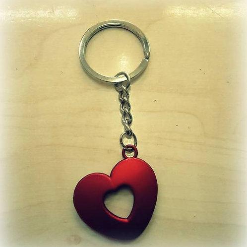 Μπρελόκ καρδιά κόκκινη S