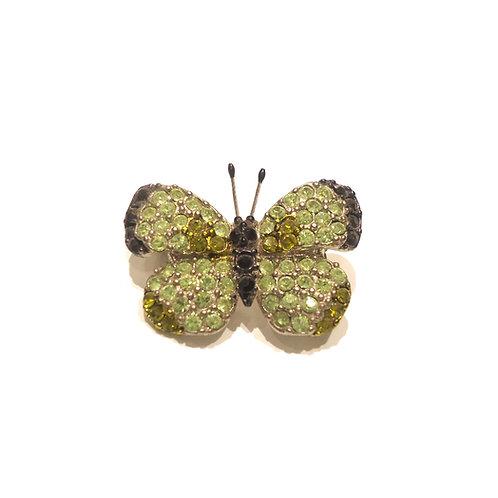 Καρφίτσα πεταλούδα πράσινη