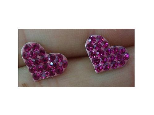 Σκουλαρίκια Καρδιές Ροζ