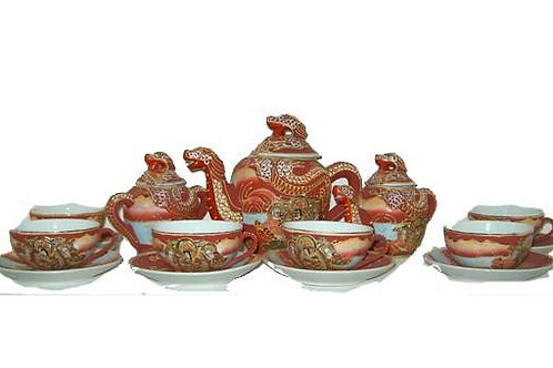 Κινέζικο σετ με φλυτζάνια(κόκκινο)