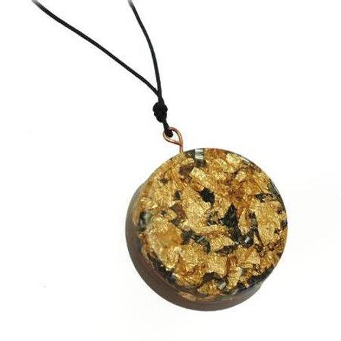 Μενταγιόν Οργονίτης με φύλλα χρυσού