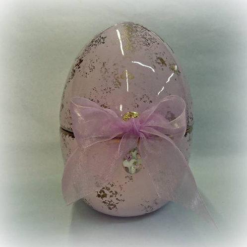 Χειροποίητο κεραμικό αυγό(ροζ)-Σύμβολο γονιμότητας
