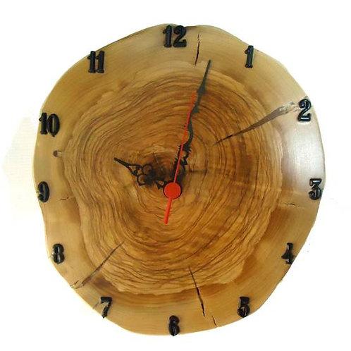 Χειροποίητο ρολόι από ξύλο Ελιάς 25 cm