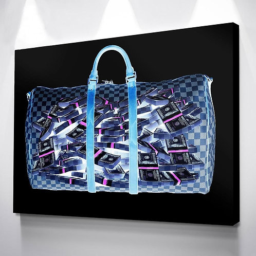Money Bag Canvas Painting