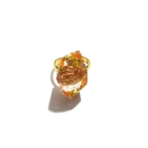 Δαχτυλίδι με οργονίτη & ηλιόπετρα