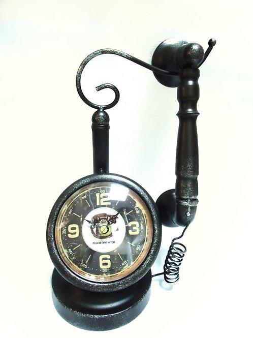 Ρολόι με διακοσμητικό τηλέφωνο
