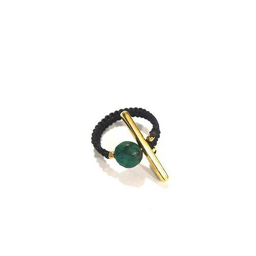Δαχτυλίδι με πράσινο αχάτη