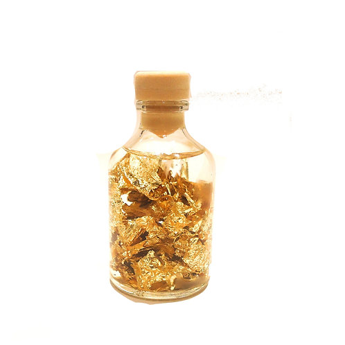 Μπουκαλάκι με φύλλα Χρυσού